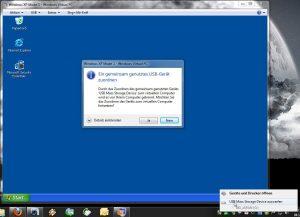 Bild  USB im XP Modus