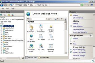 Client Access server virtual directories  Fig
