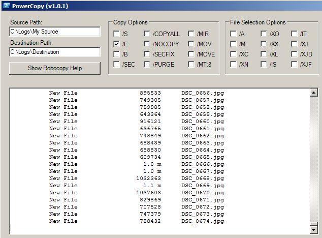 Grafische Benutzeroberfläche für Robocopy » nt4admins