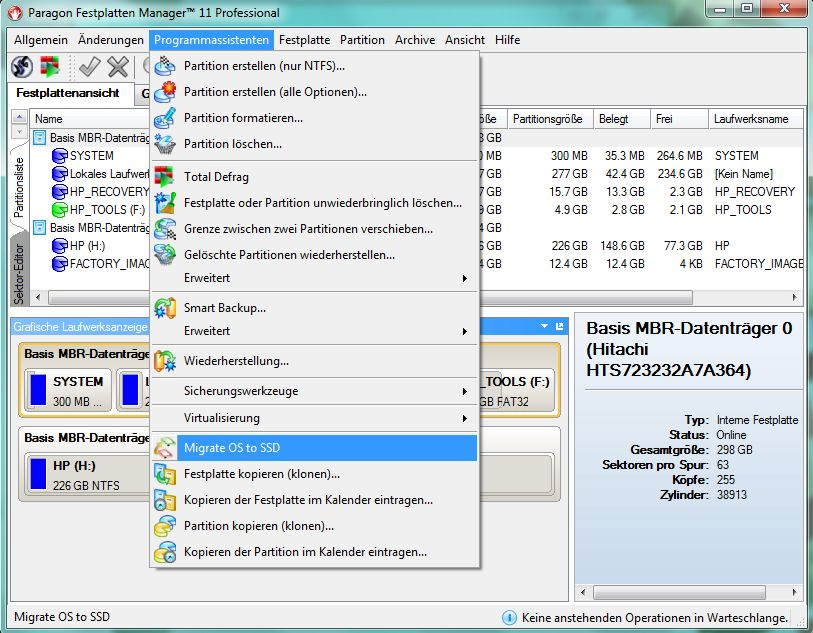 Festplattenmanager erledigt Migration auf SSD » nt4admins