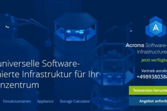 Acronis Website screenshot
