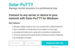 solarwinds putty