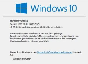 Windows Updates winver
