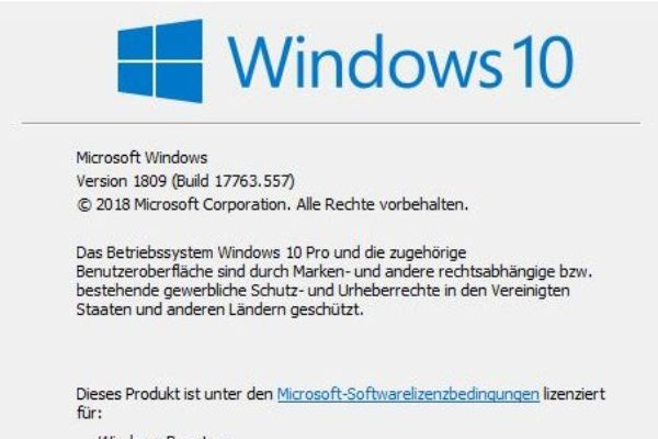 Windows Updates winver